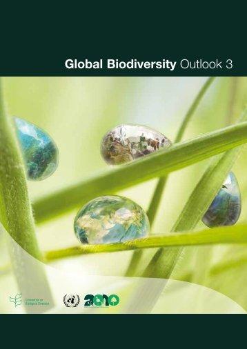 Global Biodiversity Outlook 3 (pdf) - Convention on Biological Diversity