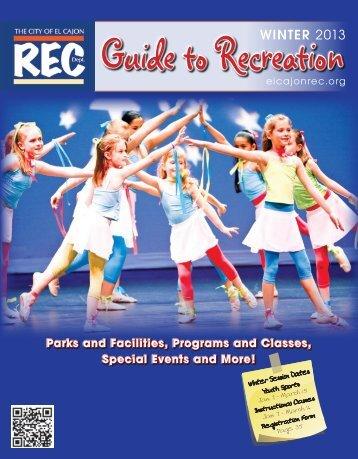Guide to Recreation - City of El Cajon