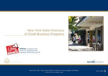 New York State Directory of Small Business Programs