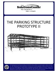 THE PARKING STRUCTURE PROTOTYPE II - AISC