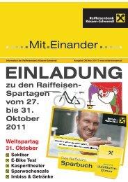 Kundenzeitung Oktober 2011 - Raiffeisenbank Kössen-Schwendt