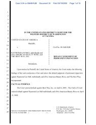 Judgment of Permanent Injunction - Department of Justice