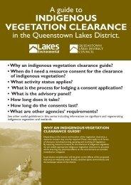 Indigenous Vegetation Clearance - Lakes Environmental