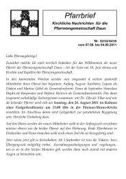 Vorabendmesse am 20. August 2011 - kirche-daun.de