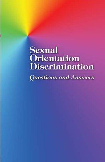 Sexual Orientation Discrimination - Department of Commerce