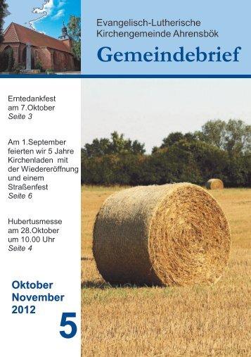 Oktober - November 2012 - Willkommen in der Kirchengemeinde ...