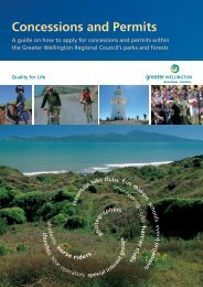 Concessions and Permits - Greater Wellington Regional Council