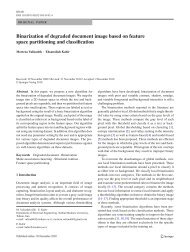 Binarization of degraded document image based on feature space ...