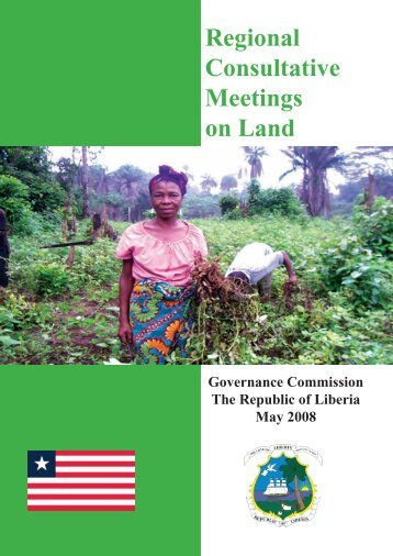 Report: Regional Consultative Meetings on Land - Land Commission