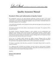 Quality Assurance Manual - Leo Steel Construction Company
