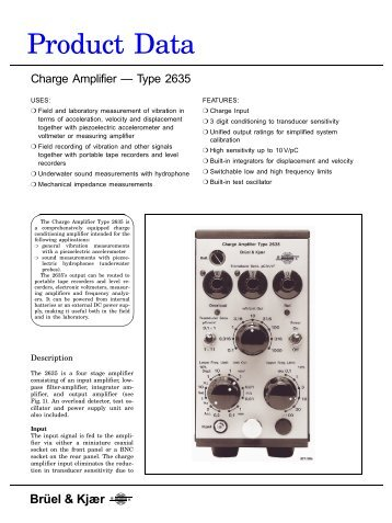 Product Data Sheet: Charge Amplifier — Type 2635 ... - New Page 1