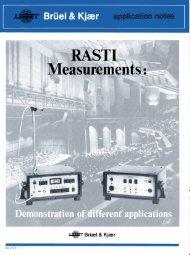 RASTI Measurements: Demonstration of different applications