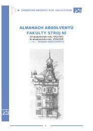 almanach absolventů - Západočeská univerzita v Plzni