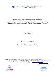 Agenda - Regional Anti-Corruption Initiative