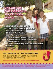 MeraGe JCC Fall SeSSion 2 Program Guide 2011-12