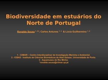 Biodiversidade em Estuários do Norte de Portugal - Cimar