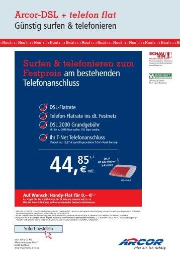 Arcor-Dsl + telefon flat
