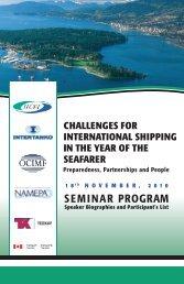 SEMINAR PROGRAM - World Maritime Day