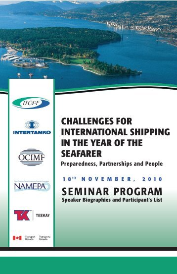 SEMINAR PROGRAM - World Maritime Day
