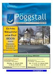 Ein frohes Weihnachtsfest und ein Prosit 2009 - Gemeinde Pöggstall