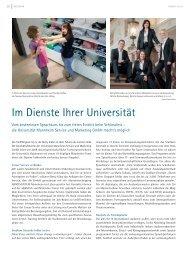 im Dienste ihrer Universität - Universität Mannheim Service und ...