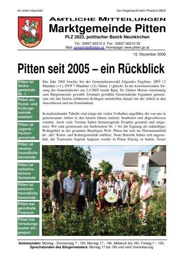 Pitten seit 2005 – ein Rückblick