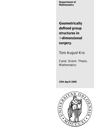 Geometrically defined group structures in ¿-dimensional surgery ...