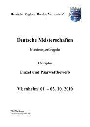 Einzel und Paarwettbewerb Viernheim 01. – 03. 10. 2010 ... - DKBC