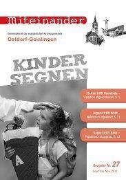 September 2011 - Evangelische Kirchengemeinde Ostdorf-Geislingen