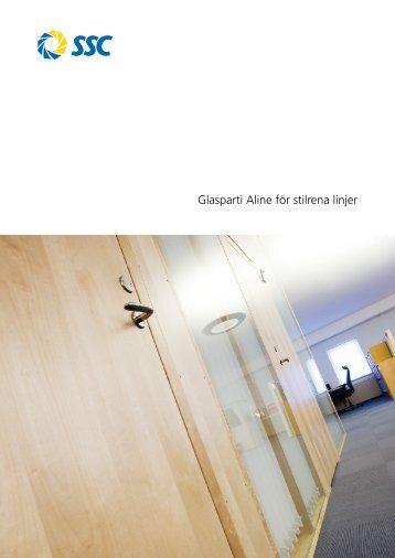 Glasparti Aline för stilrena linjer - SSC