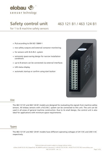 NEW 3 pieces Elobau 363098 Sensor Interface module