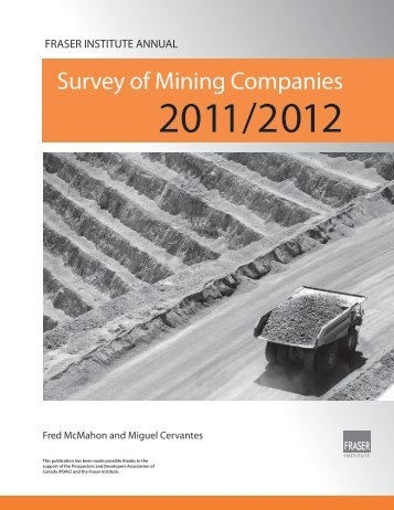 Fraser Institute Annual Survey of Mining Companies, 2011/2012