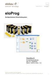eloProg 350HB002_D_Vers_1_2 | Betriebsanleitungen - Elobau