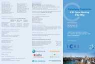 Preliminary Programme ICRS Focus Meeting The Hip