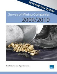 Survey of Mining Companies: 2010 Mid-Year Update - Fraser Institute