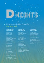 Music at the Dolder Grand Bar Live Acts April