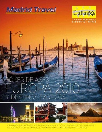 Descargue aqui el itinerario completo Europa 2010 en - Madrid Travel