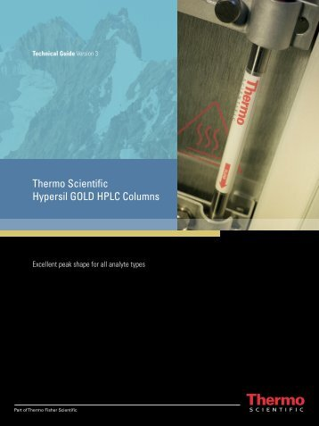 Thermo Scientific Hypersil GOLD HPLC Columns
