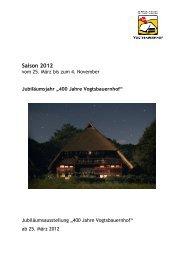 Pressemappe Saison 2012 - Schwarzwälder Freilichtmuseum ...