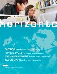 Horizonte Nr. 68 - Gesamtausgabe (PDF, 4.1 MB) - Schweizerischer ...