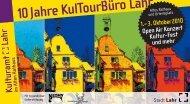 10 Jahre KulTourBüro Lahr - Stadt Lahr