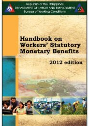 Handbook on Workers - Bureau Of Working Conditions - DOLE