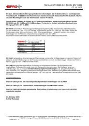 weiteren Informationen erhalten Sie in diesem ... - Elpro GmbH