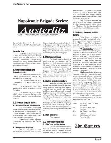 Napoleonic Brigade Series: Austerlitz - Gamersarchive.net