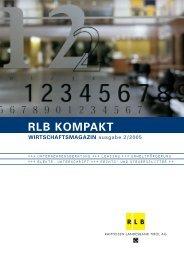 RLB KOMPAKT WIRTSCHAFTSMAGAZIN ausgabe 2/2005