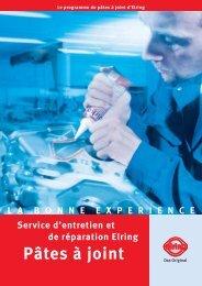 Service d'entretien et de réparation Elring Pâtes à joint ...