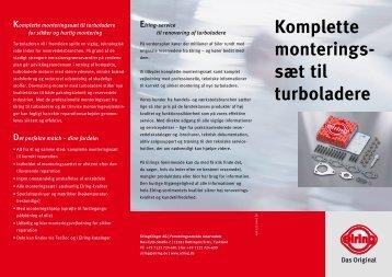 Komplette monterings- sæt til turboladere - Elring