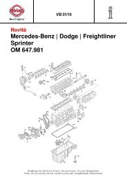 Mercedes-Benz | Dodge | Freightliner Sprinter OM 647.981 - Elring