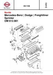 Mercedes-Benz | Dodge | Freightliner Sprinter OM 612.981 - Elring