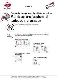 Montage professionnel turbocompresseur - Elring